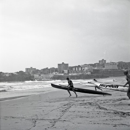 Bondi Lifesaver and Kayak 2 - Each archival photograph is stamped and signed by Robert and a brief description of how it was taken.