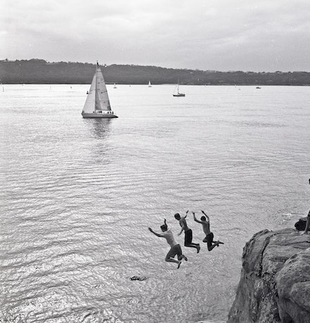 Watsons Bay Jump - Each archival photograph is stamped and signed by Robert and a brief description of how it was taken. The options are as follows: -...