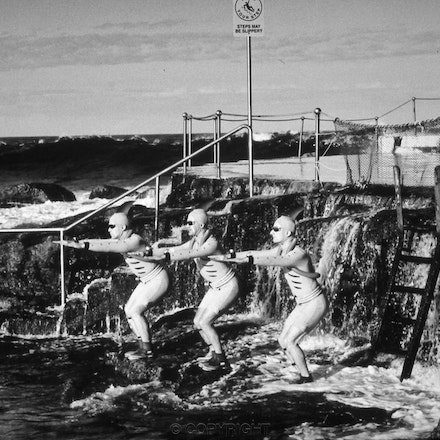 Bronte Pool & Chrome - Each archival photograph is stamped and signed by Robert and a brief description of how it was taken.