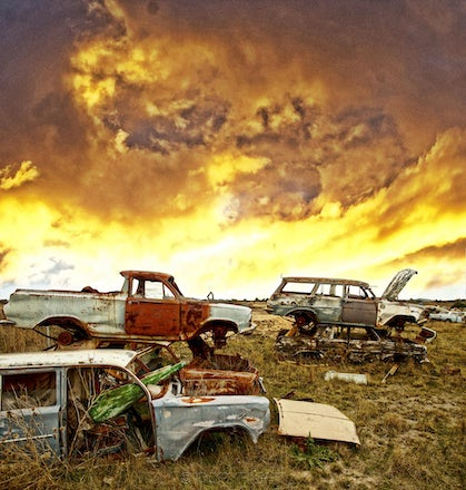 Holden Apocalypse . - Photographed in Talbot,Victoria,these Holdens were stacked on top of each other for a film ,luckily .photographed with a Canon 5...