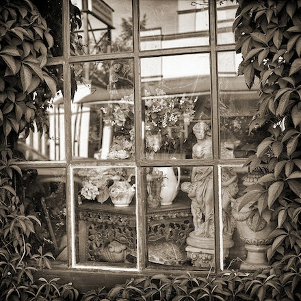 Bowral Antique Shop Window - Each archival photograph is stamped and signed by Robert and a brief description of how it was taken. The options are as...