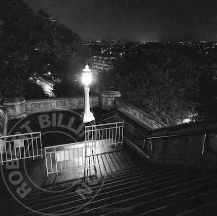 Argyle Steps ,leading to Observatory Hill - This could be reminiscent of a night scene from ..Paris After Dark ,Brassai ,taken in the 1930s, however was...