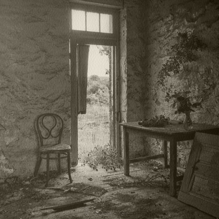 Farm Interior Yass with Flowers - Each archival photograph is stamped and signed by Robert and a brief description of how it was taken. The options are...