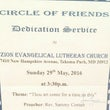 Circle of Friends Dedication Service