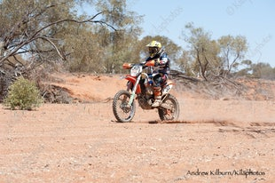 Gascoyne Dash -2014 Race 1 - Bikes and Quad camp / river