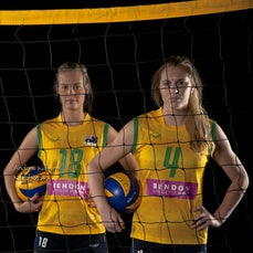 Volleyroos Womens Volley Ball - Photoshoot with  Volleyroos:- Jennifer Sadler & Sophie Godfrey