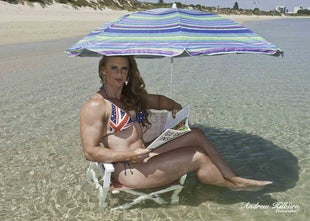 19-01-2018 Alysha Kempf IFBB Athlete BiG ReD Rockinghan Beach Western Australia - Alysha Kempf IFBB Athlete BiG ReD Rockinghan Beach Indian Ocean Western...