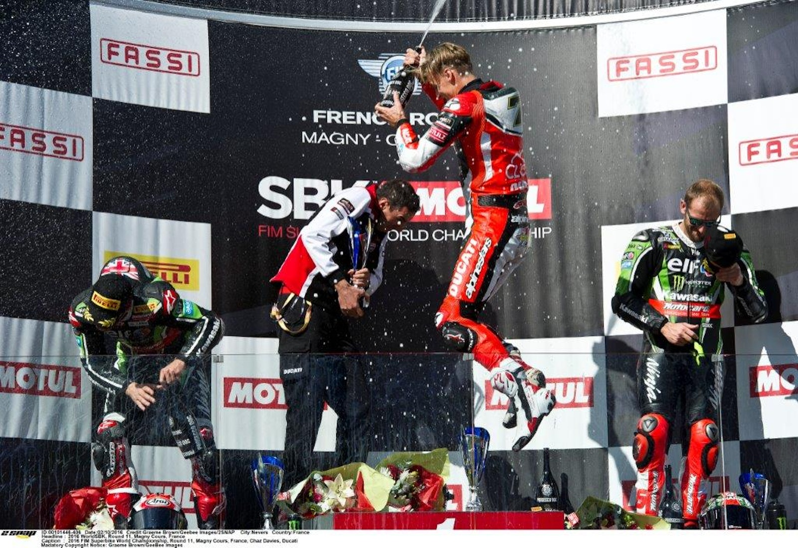 Podium delight for Davies and Ducati