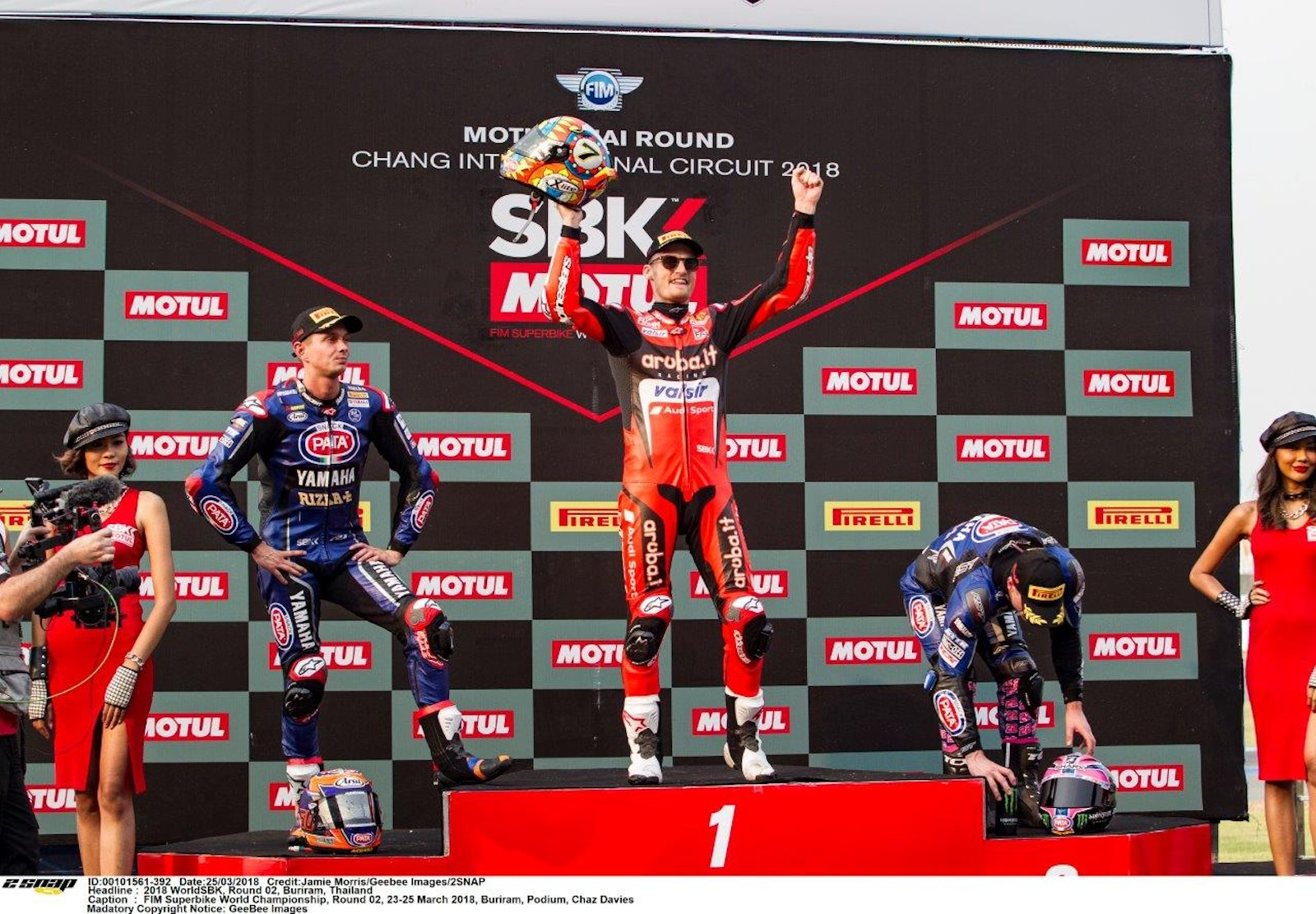 2018-03  Chaz celebrates his race two win for Ducati