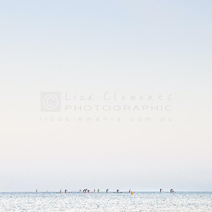 Morning Paddle, HMB© - Morning Paddle, Half Moon Bay, 2013 Open Edition Silver Distinction APPA Award 2014 AIPP Australian Professional Photography...
