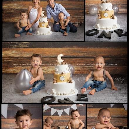 Sasha and Nickaan.1st Birthday.cake.
