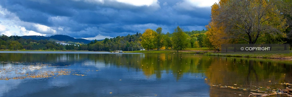 LAKE CANOBOLAS AFTER THE STORM - Panorama, lake, storm over lake, Canobolas,