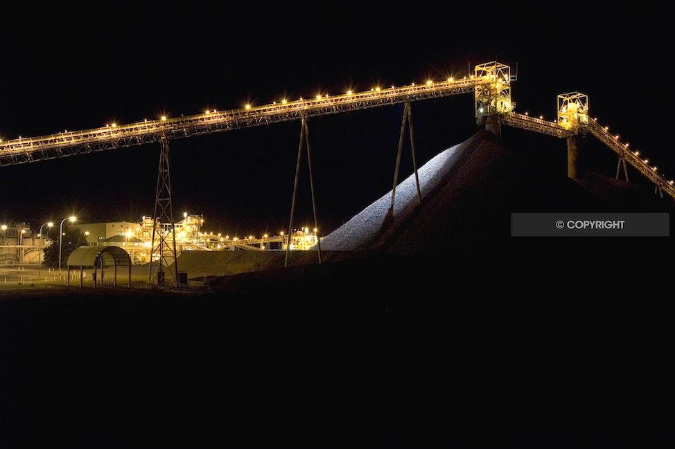 MINING PRO 2 - Ore pile, mining, gold,copper, night,