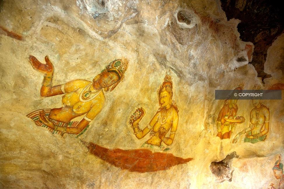 SIGIRIYA CAVE PAINTINGS_DSC4684 - Sigirya cave paintings, Sigirya rock,