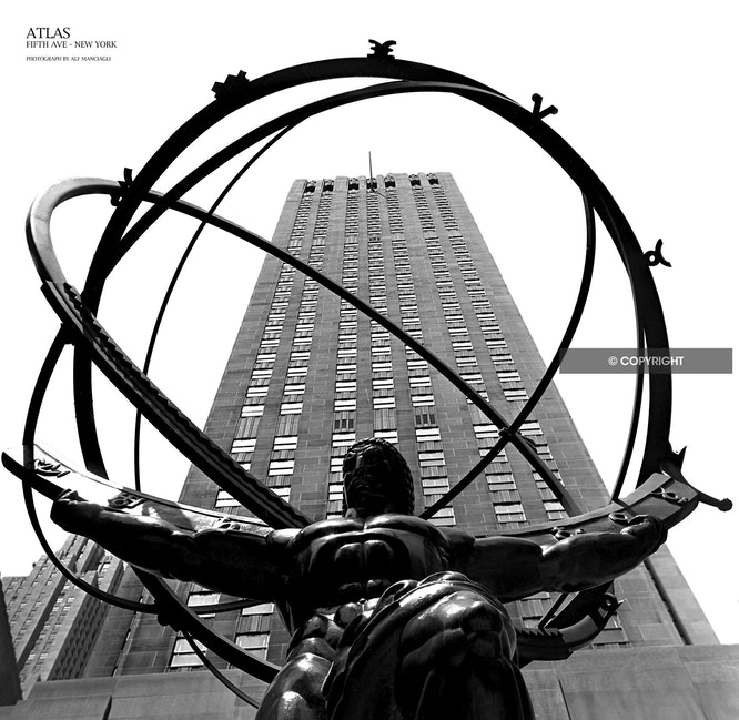 ATLAS NEW YORK - Atlas NY, USA, Fifth avenue, USA,