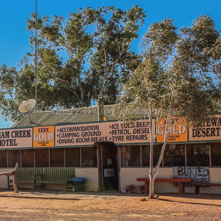 William Creek Hotel - SA - William Creek is home to the historical William Creek hotel (circa 1935) - the old railway siding on the original Ghan railway...