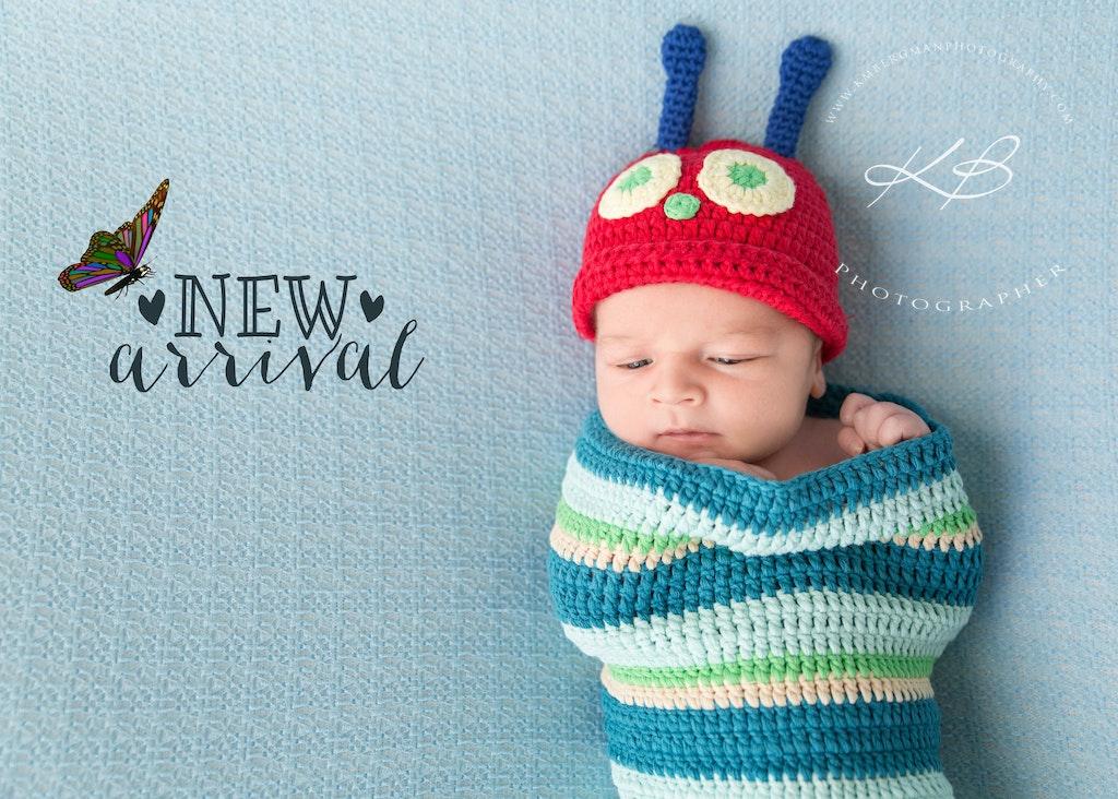 MJ - Beautiful Newborn and Maternity portraits by Logan City photographer Kerry Bergman in her Edens Landing studio.