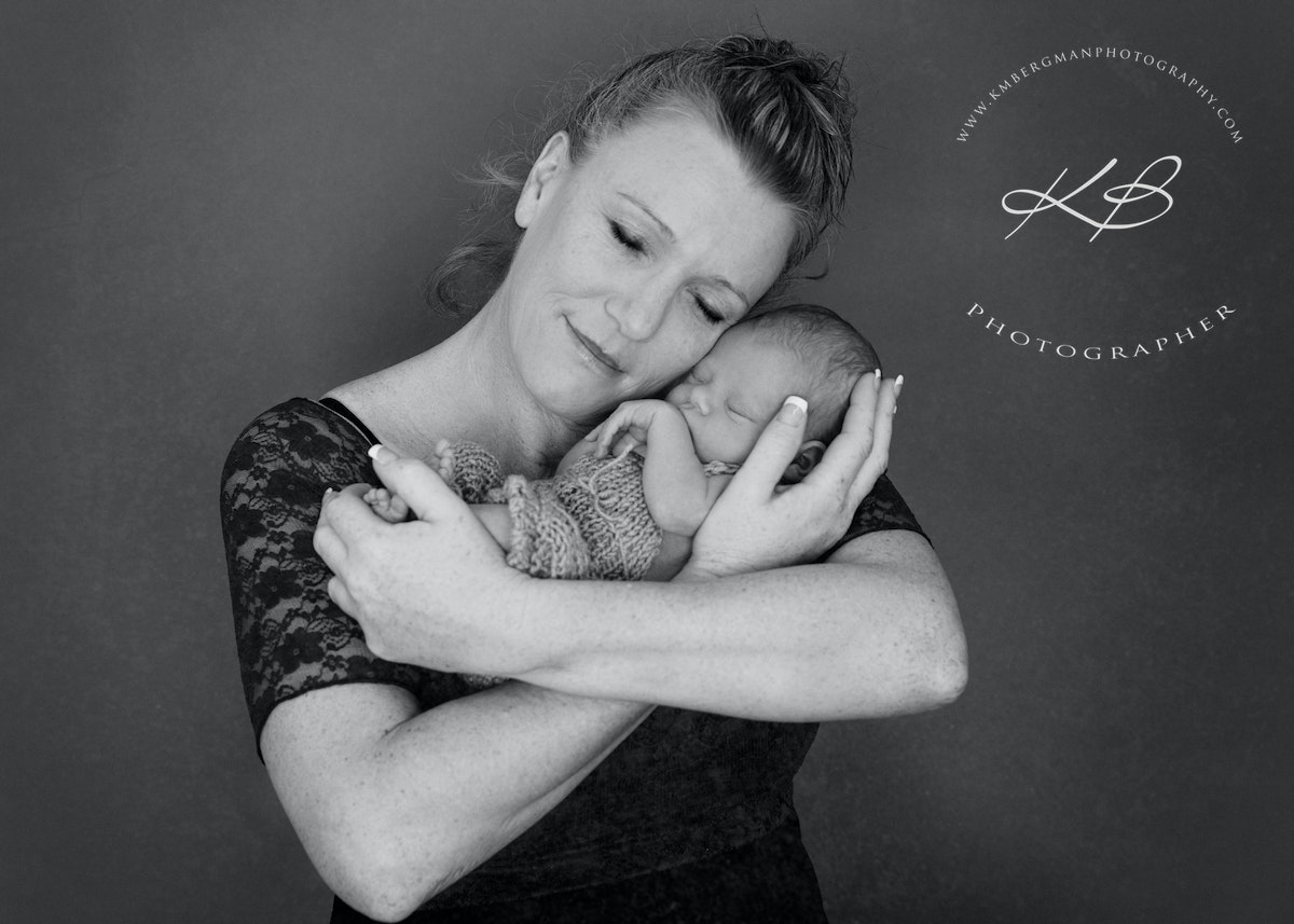 Stylised Newborn Portraits - Beautiful makeover and stylised Newborn portraits by Logan City photographer Kerry Bergman in her Waterford studio.