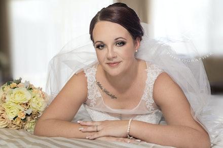 Bridal-Portraits - Beautiful Bridal portraiture, showcasing your wedding dress, with Logan City Portrait Photographer, Kerry Bergman