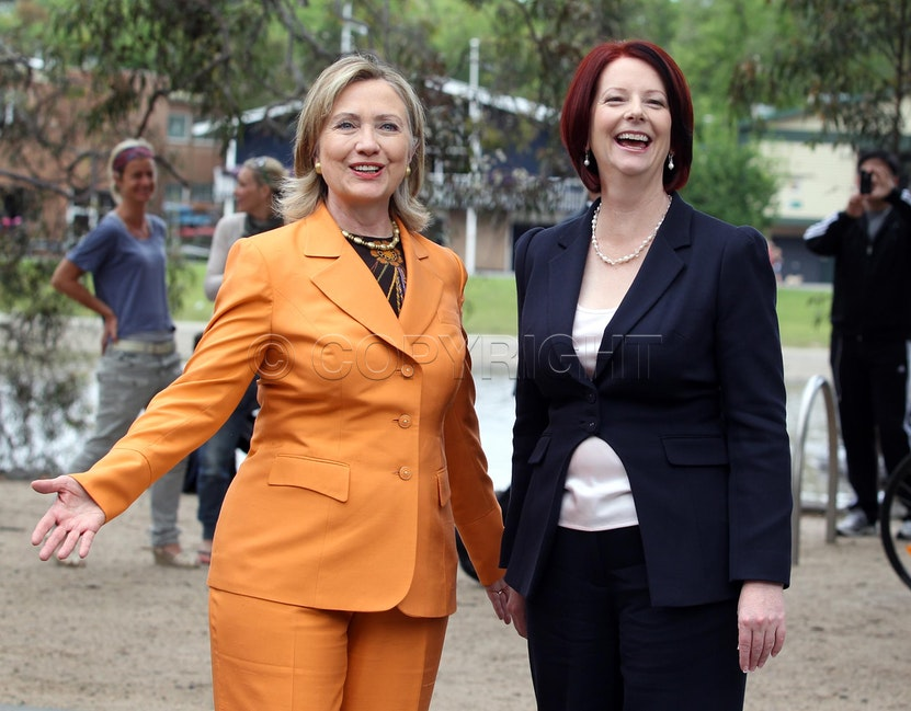 Hillary Clinton and Prime Minister Julia Gillard
