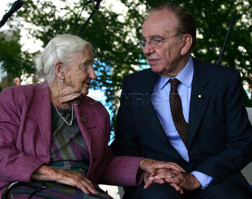 Dame Elisabeth Murdoch and Rupert Murdoch