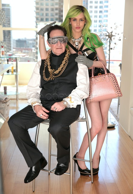 Geoff Edelsten and Gabbi Grecko - Geoffrey Edelsten and Gabi Grecko at home
