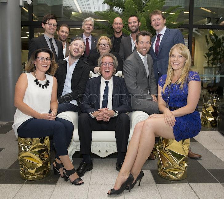 AO2015 001 copy - Australian Open 2015. day  7 Tennis Australia President, Steve Healy, has invited Academy Award winner Geoffrey Rush to host a special...