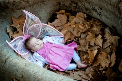 Helen Osler FairiesDSC_9161 - This fairy was so enthralled by our photosession that she had a little snooze in the leaves. Looks comfy!