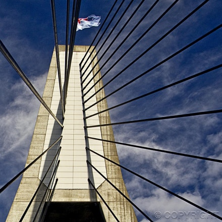 suspension - ANZAC Bridge - Sydney NSW