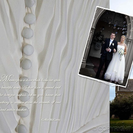 Wedding Album X2 s - A collage of the day's images presenting a story of the wedding.