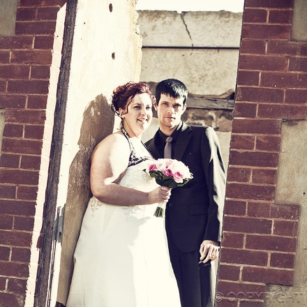 104 Old ruins - doorway - Wedding photography at an old homestead ruins near the Adelaide Hills.