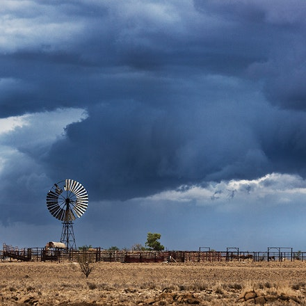 sml storm over windmill QLD