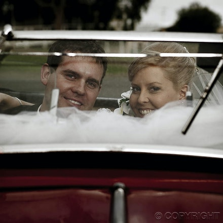 Just Married - Just married  - the windscreen view