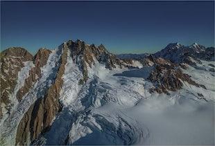 Tasman Glacier Aerials South Island New Zealand