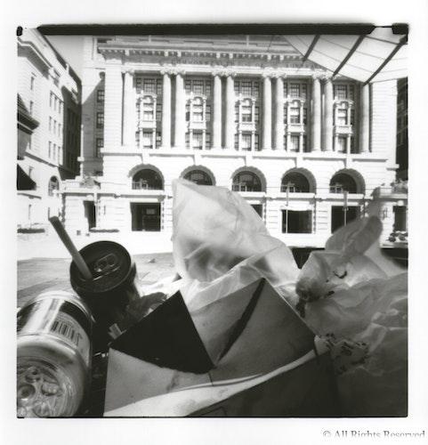 Forrest Place, Perth - Pinhole image, medium format film, Ilford Warm Tone Fibre print.