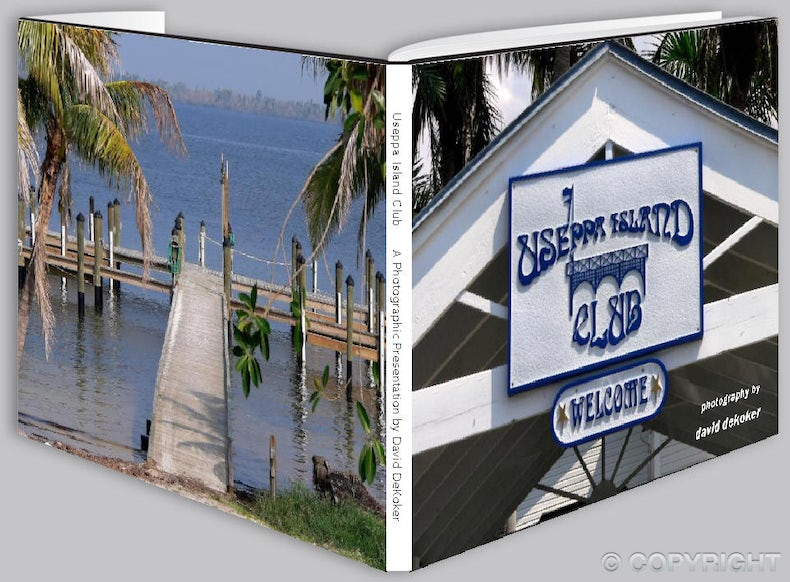 Useppa Island Club Photobook - Full Color jacketed 9 x11 hard cover coffee table book containing 50 professional high resolution images of the exclusive...