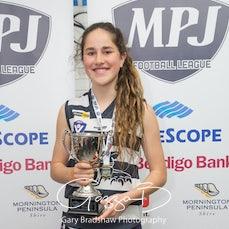MPJFL Girls medals - Intermediate Girls 2017