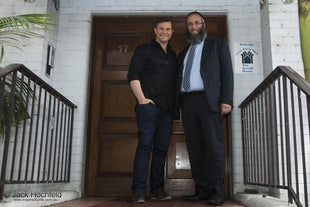Jewish House - Rabbi Mendel Kastell and David Campbell at Jewish House