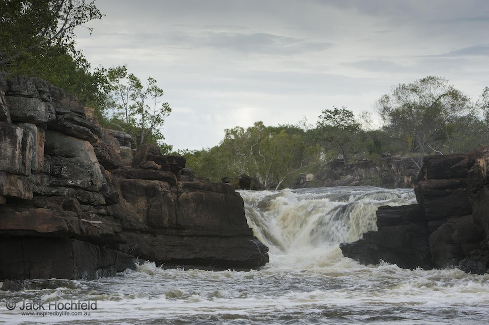 Rocks and waterfall, Arnhemland - Rocks and waterfall. Mount Borradale, Arnhemland, Northern Territory