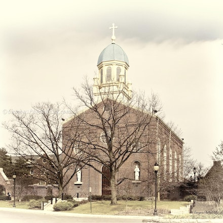 8x10.Chapel of the Immaculate Conception, University of Dayton_antique look_2430_2192 - Photo by Campus Photos USA. (Antique Effect) The Chapel of the...
