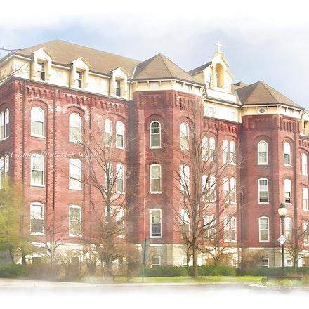 St. Joseph Hall, University of Dayton_digital.watercolor_1218_2202 - Photos by Campus Photos USA.(Digital Watercolor Effect) This is St, Joseph Hall, University...