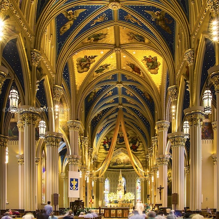 Basilica of the Sacred Heart, Notre Dame/interior Color Photo_2436_7588 - Photo by Campus Photos USA. The Basilica of the Sacred Heart Church, Notre Dame...