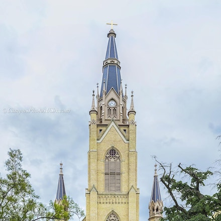 Basilica of the Sacred Heart, Notre Dame/Exterior Color Photo_2436_603_ - Photo by Campus Photos USA. The Basilica of the Sacred Heart Church, Notre Dame...