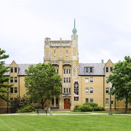 Morrissey Manor, Notre Dame/Color Photo 1632_640_6481 - Photo by Campus Photos USA. This is Morrissey Hall on the campus of Notre Dame, South Bend, IN....