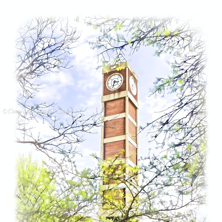 Clock Tower, University of Louisville/Digital Watercolor_1624_6517 - Photo by Campus Photos USA. The University of Louisville Clock Tower is located on...