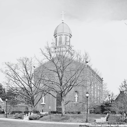 8x10.Chapel of the Immaculate Conception, University of Dayton._2430_BW_Print_1.2192 - Photo by Campus Photos USA. (Black & White) The Chapel of the Immaculate...