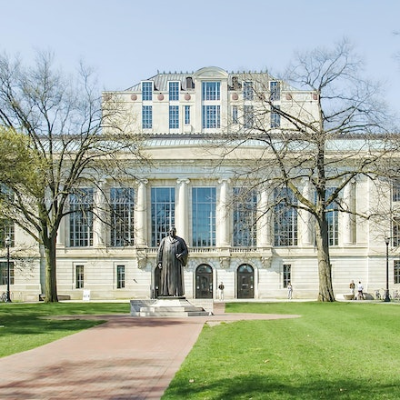William Oxley Thompson Memorial Library, the Ohio State University/Color Photo_2436_0855 - Photo By Campus Photos USA. The statue of William Oxley Thompson...