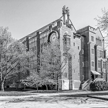 Hamilton Hall, the Ohio State University/Black & White Photo_2436_0888 - Photo by Campus Photos USA. Hamilton Hall is located on the college campus of...