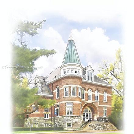Ezra Gillis Building, University of Kentucky/Digital Watercolor_2430_55 - Photo by Campus Photos USA. The Ezra Gillis Building on the college campus of...
