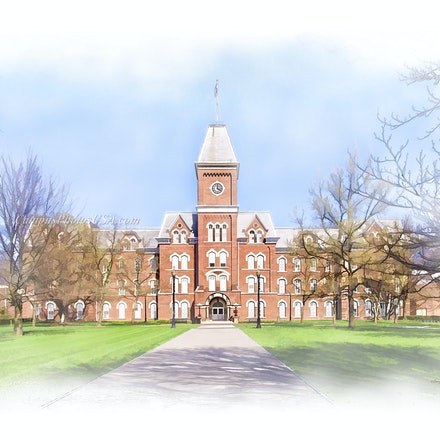 University Hall, the Ohio State University/Digital Watercolor4298_2436_ - Photo by Campus Photos USA. University Hall is one of the iconic buildings on...